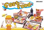ORCARA Dollhouse Miniature Fast food and drink Full set